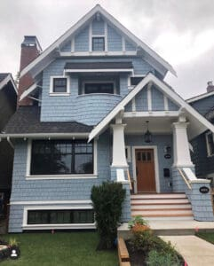 Exterior Repaint of a Blue House