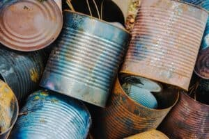 Rusty Paint Cans In a Bunch